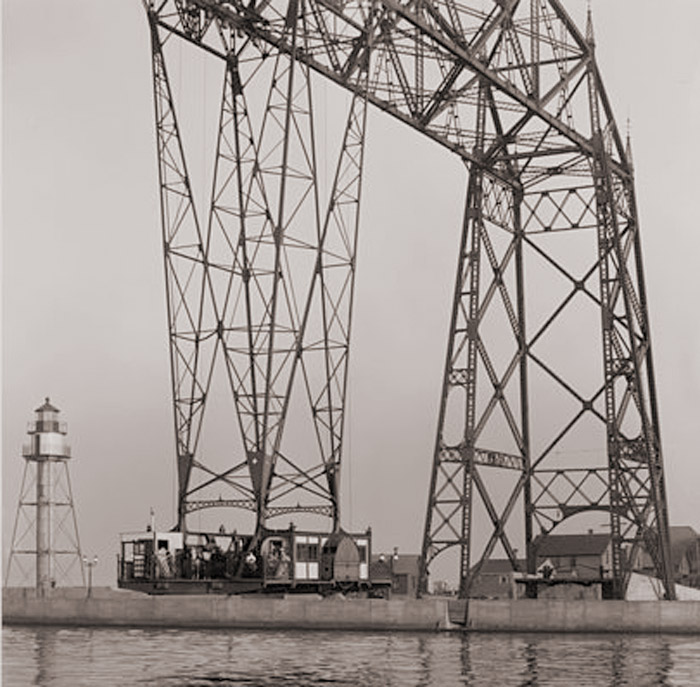 Duluth Aerial Bridge with gondola, circa 1908