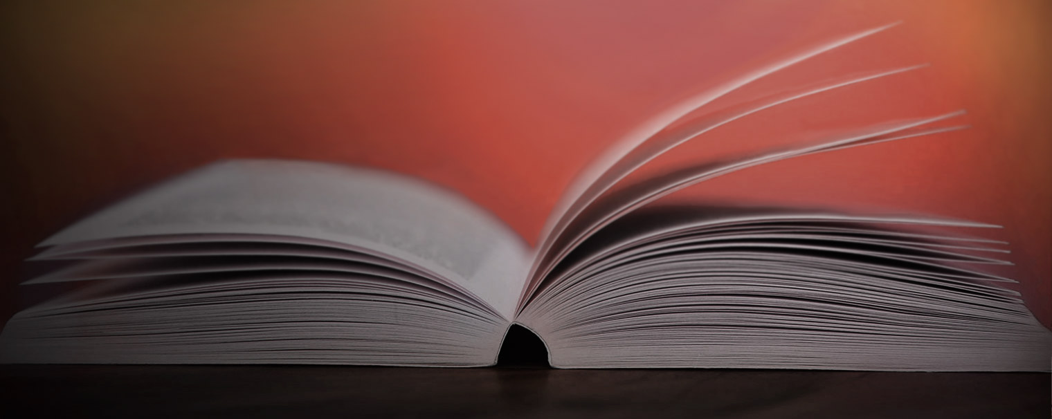 Book with fanned open pages