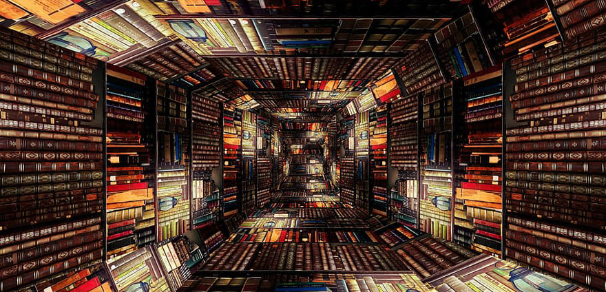 Tunnel of Library Books