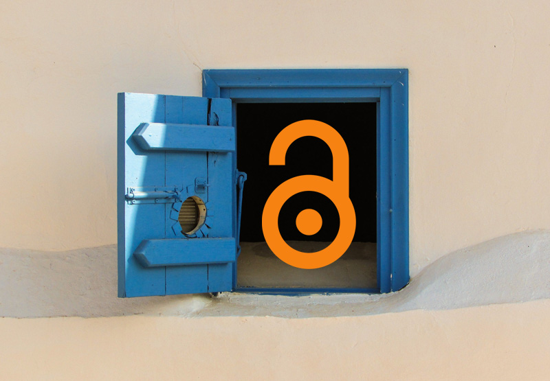 An open combination lock resembling letter A