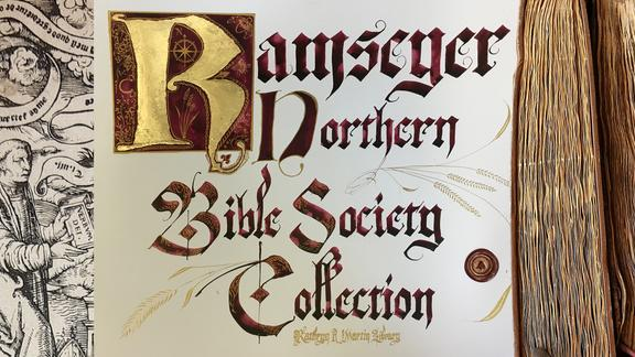 The Ramseyer-Northern Bible Society Collection sign