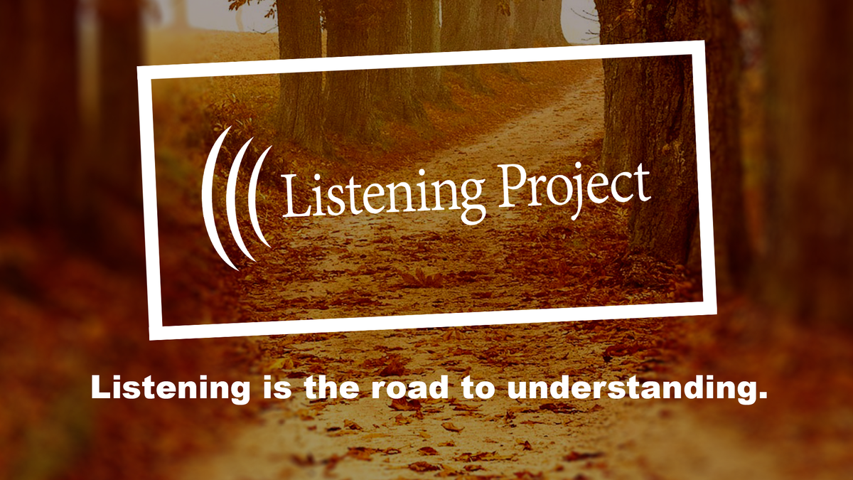 listening project logo over an autumn background