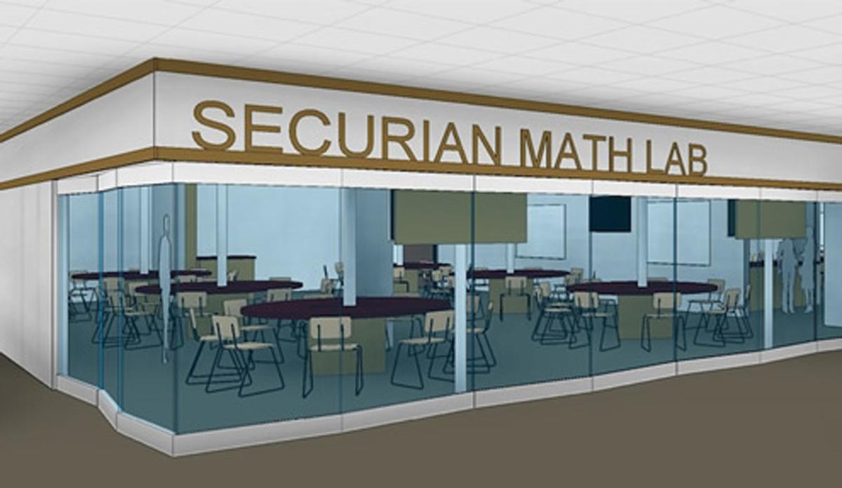 Architectural Drawing of the Securian Math Learning Lab Expansion