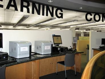 Second Floor Printer Stations in the curved area